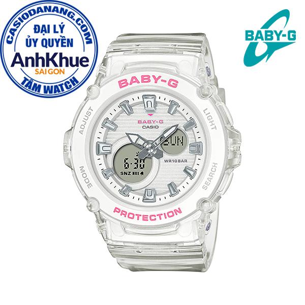 Đồng hồ nữ dây nhựa Casio Baby-G chính hãng Anh Khuê BGA-270S-7ADR (42mm)