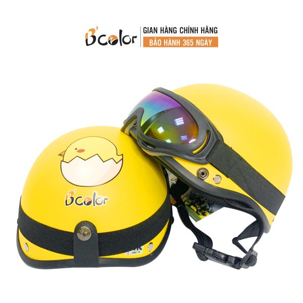 Giá bán Mũ Bảo Hiểm Trẻ Em Kính UV An Toàn Chính Hãng B'color