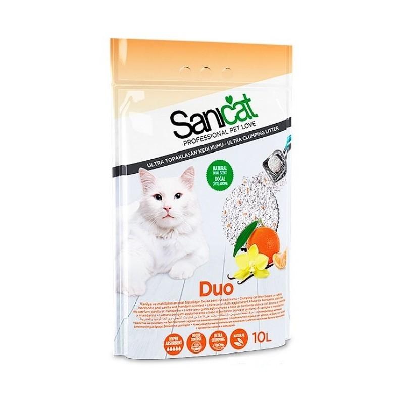 Cát Sanicat vệ sinh cho mèo hương quýt vani 10l