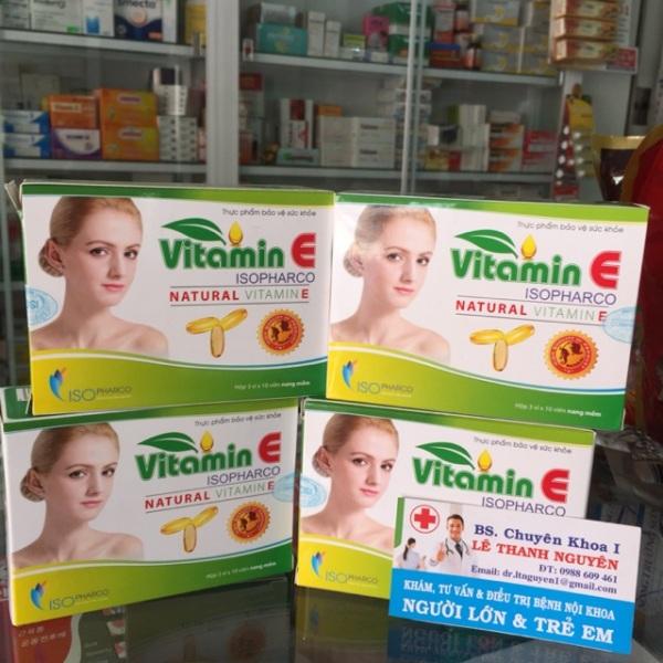 Vitamin E- viên uống đẹp da,cho làn da mịn màng