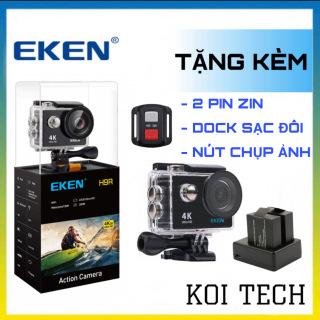 Kèm thẻ 64gb hoặc 32gb camera 4k Eken H9r bản mới V8 nâng cấp 20MP Tặng 1 pin và 1 dock sạc đôi - camera wifi ip xe ma y oto phươ t chô ng nươ c chô ng sô c chống rung - camera hành trình phượt mini thumbnail