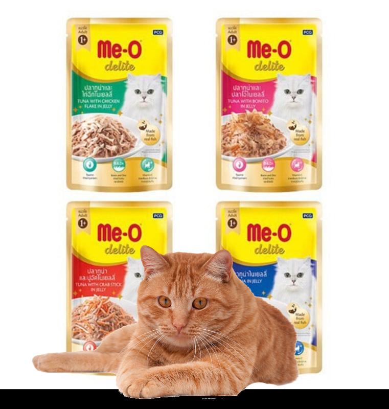 Pate Me-o Delite (4 vị) Thức ăn mèo dạng sốt gói 70gr