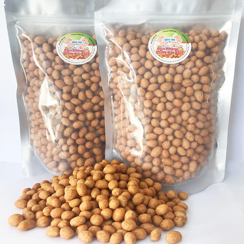 [HCM](DC) 1Kg Đậu Phộng Nước Cốt Dừa (2 Túi Zip) Thương Hiệu Rồng Con - Đồ ăn vặt giòn xốp béo thơm