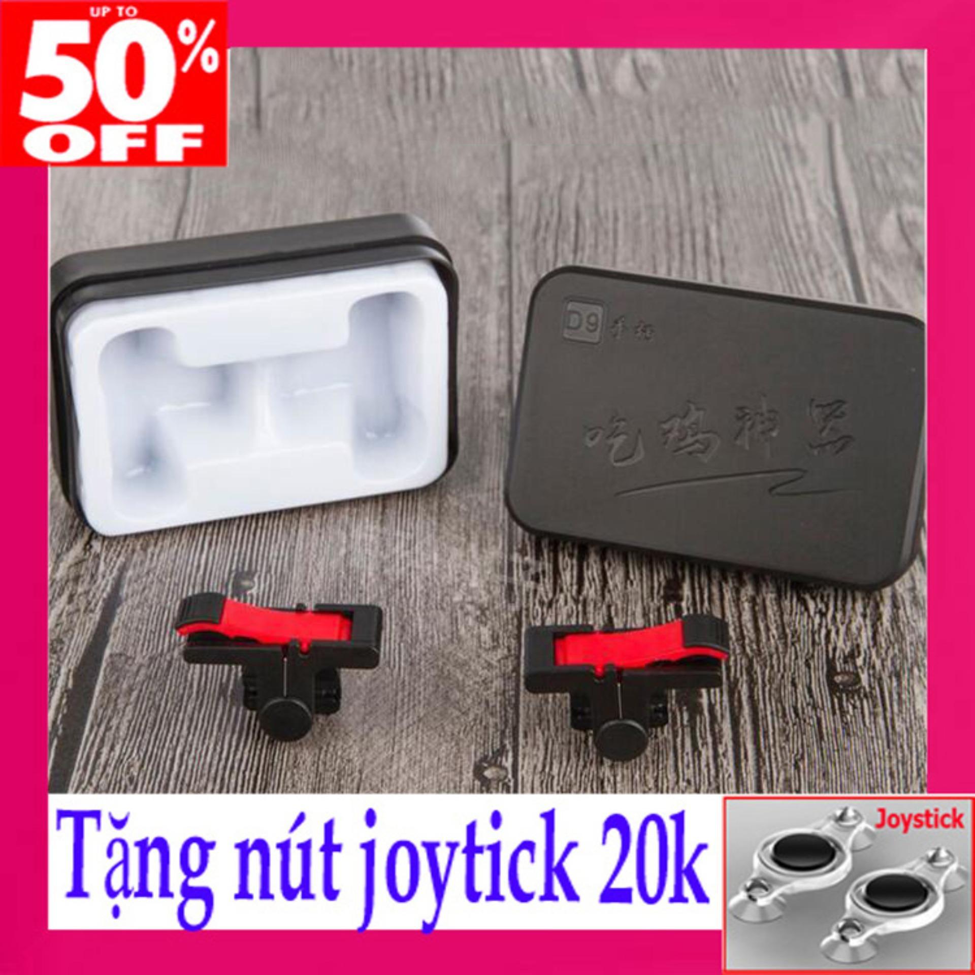 [COM BO] Bộ 2 nút bấm PUBG D9 chơi game mobile-Tặng Nút Joystick Thế Hệ 5 20k-tay cầm choi game.
