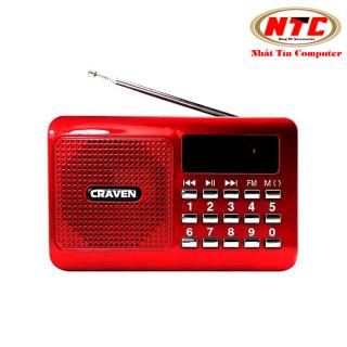 Loa nghe nhạc Craven CR-16 hỗ trợ USB thẻ nhớ Tai nghe (Đỏ) - Nhất Tín Computer thumbnail