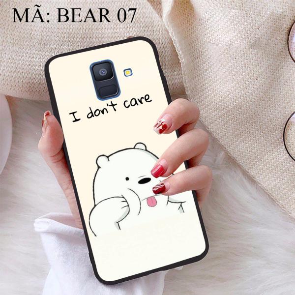 Ốp lưng iCase dành cho Samsung Galaxy A6 2018 viền dẻo TPU BST Chúng ta là Gấu