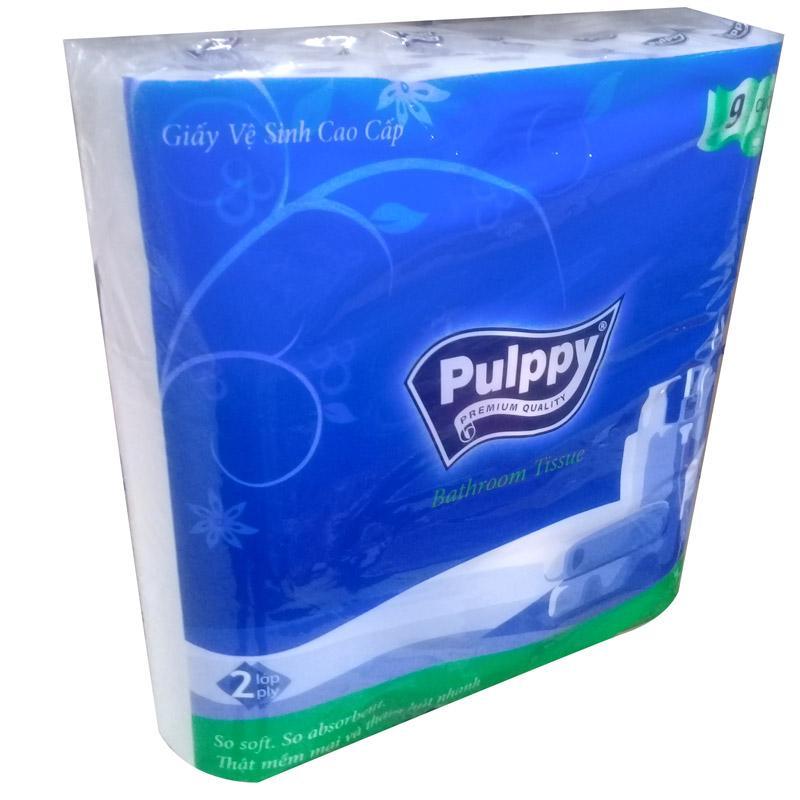 Giấy vệ sinh Pulppy lụa 9 cuộn