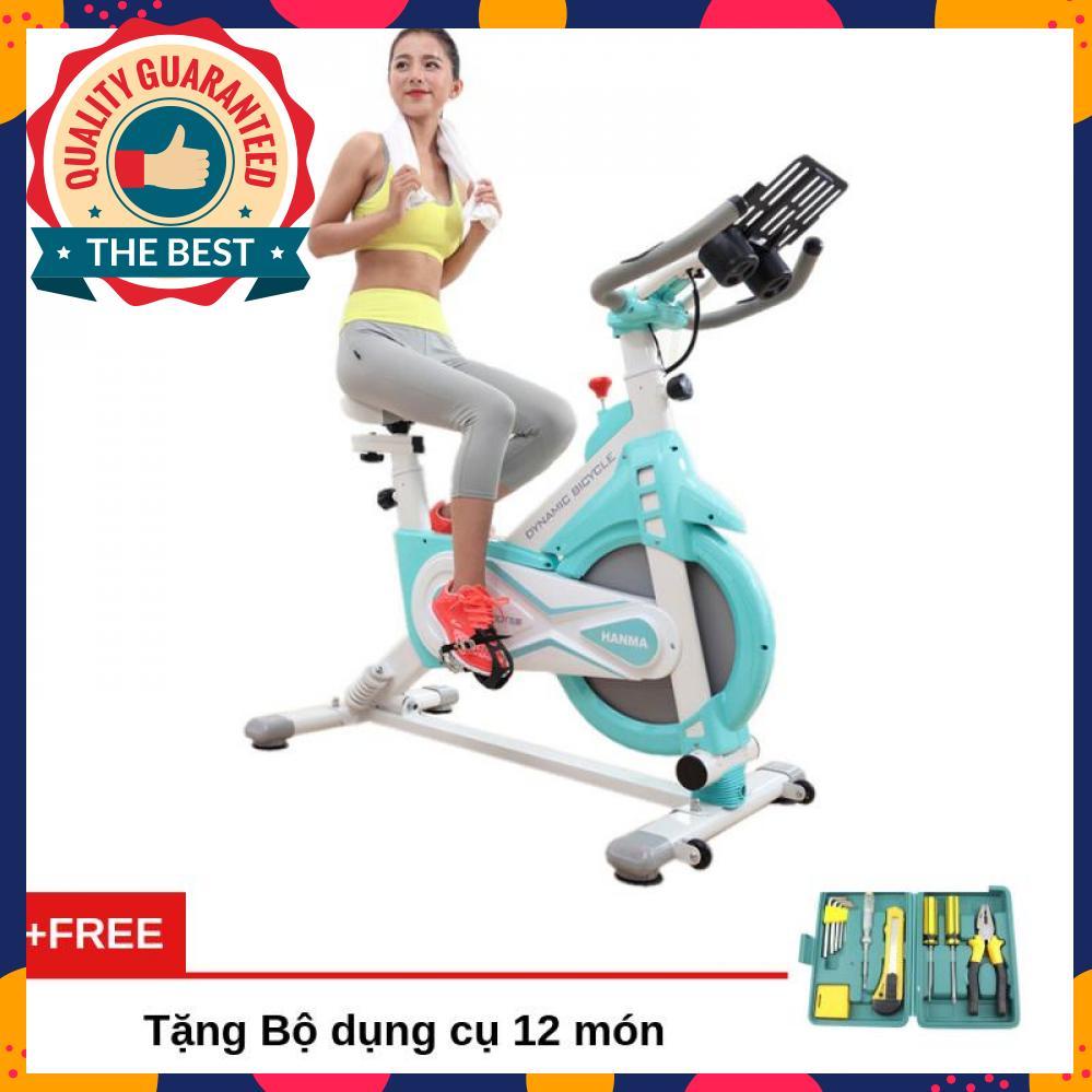 Bảng giá Xe đạp tập thể dục cao cấp Air Bike MK127 chất liệu thép chịu lực, sơn tĩnh điện chống gỉ, chịu trọng lượng tối đa 120Kg, màn hình LCD hiển thị các thông số + Tặng bộ dụng cụ 12 món
