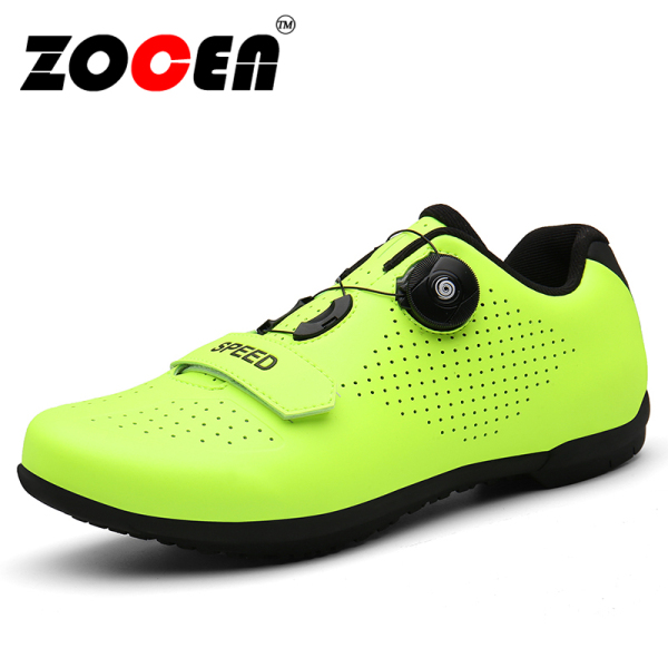 Giày đi xe đạp SPD cho nam và nữ, giày đế cao su không khóa thoáng khí dùng khi đi xe đạp leo núi - INTL