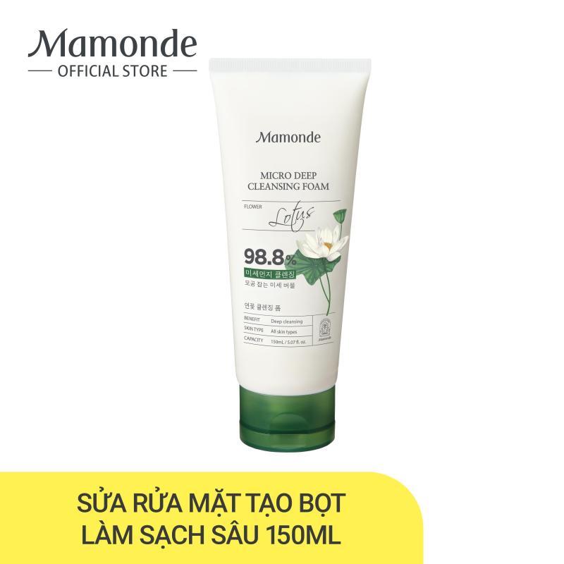 Sữa rửa mặt làm sạch lỗ chân lông mụn đầu đen Mamonde Micro Deep Cleansing Foam 150ml giá rẻ