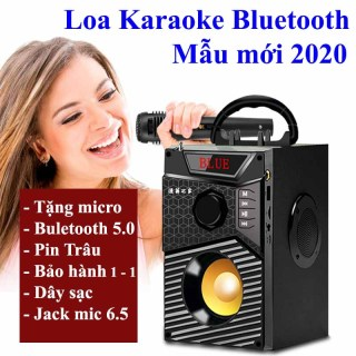 Loa Công Suất Lớn, Loa A300 Hozito Cao Cấp Version 2020 + TẶNG MIC HÁT, Loa Hat Karaoke Bluetooth Cầm Tay -Kèm Bóp xốp thumbnail