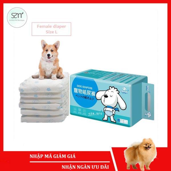 5 cái Bỉm vệ sinh chó mèo cái (Female) Sumiho công nghệ Ý size L cho chó 6-15Kg