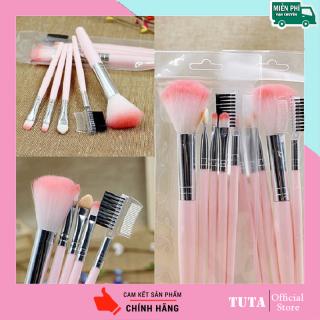 TUTA - Bộ cọ trang điểm phối 5 cây sử dụng tiện lợi dễ dàng Phấn mắt, Kem nền, Bộ trang điểm cọ màu hồng CO-1T thumbnail