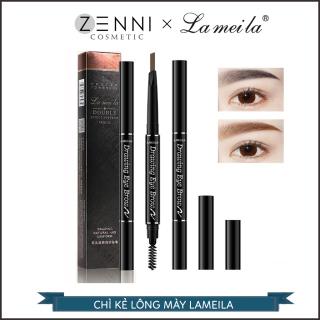 [FREESHIP] Chì kẻ mày 2 đầu Lameila - Bút kẻ lông mày màu sắc tự nhiên, siêu mịn và bền, không thấm nước - Zenni thumbnail