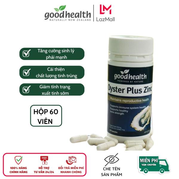 Tinh chất Hàu Goodhealth Oyster Plus Zin C, tăng cường sức khỏe, sinh lý nam giới, chắc khỏe xương khớp, hôp 60 viên cao cấp