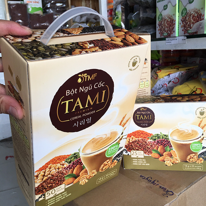 Bột ngũ cốc TAMI Tâm Minh hộp 25 gói (450g)- [Ngon bổ dưỡng cho sức khỏe mỗi ngày]