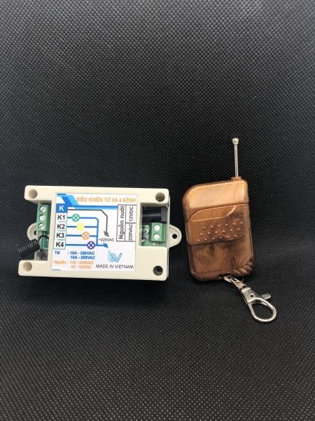 Giá Bộ điều khiển RF 2 kênh 12V-220V 40m-3km Kèm hộp bảo vệ mạch - Thiết bị điện thông minh - Nhà thông minh