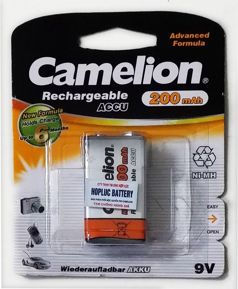 Giá Pin sạc Camelion 9V 200mAh vàng có tem chống hàng giả