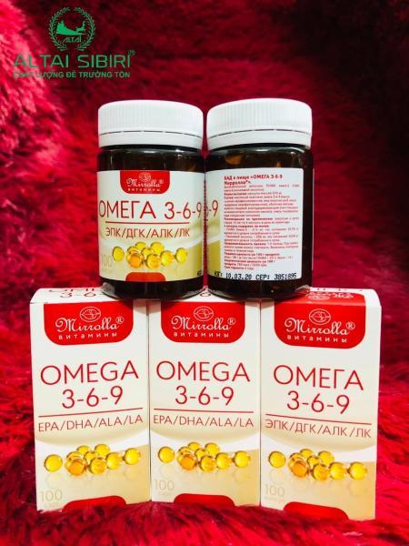 Combo 2 hộp omega 3-6-9 Nga - sáng mắt - đẹp da - lão hóa- đột quỵ 100 viên