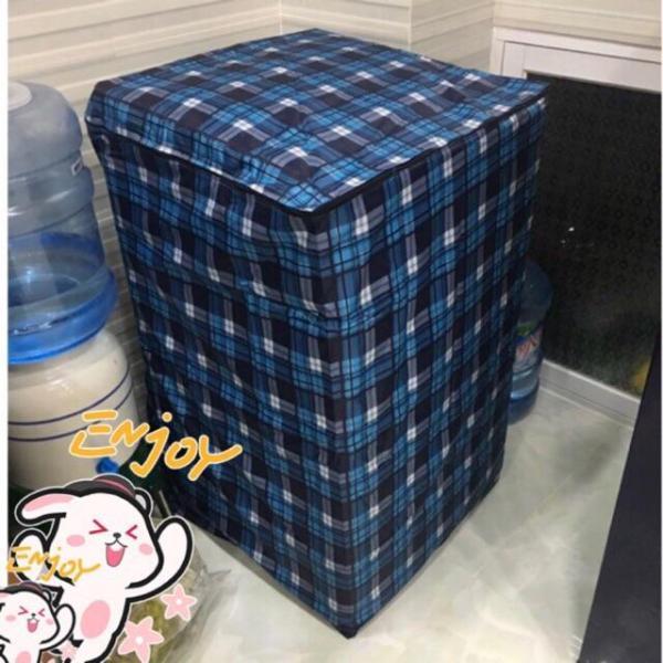 Áo Trùm Máy Giặt Cửa Trên Vải Dù Size 7 - 8kg - Kara House ( Hoa Văn caro ) - Gia dụng bếp