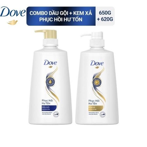 COMBO Gội xả Dove Phục hồi Hư tổn 650/620g giá rẻ