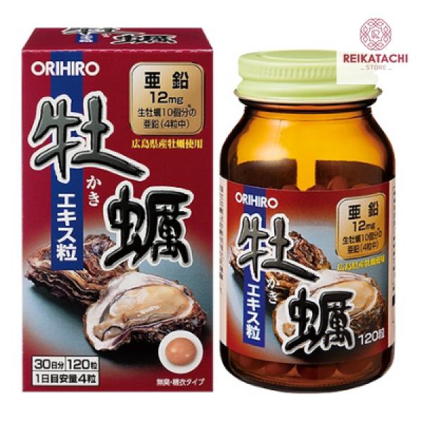 Viên uống tinh chất Hàu tươi Orihiro Nhật Bản 120 viên cao cấp