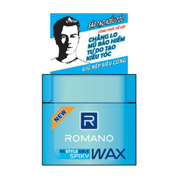 Wax tạo kiểu tóc cao cấp Romano Spiky giữ nếp siêu cứng 68gr giá rẻ