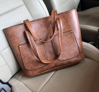 túi xách nữ công sở to đựng vừa a4 phù hợp mang đi làm túi chất da mềm đựng laptop 14inch thumbnail