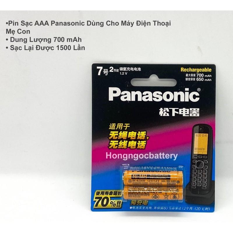 Pin AAA Sạc Panasonic ( Pin điện thoại mẹ con )