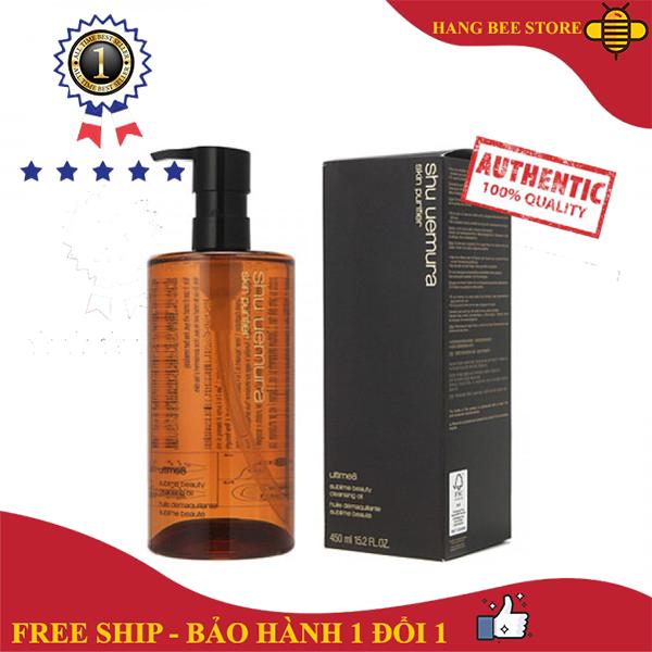[HOT SALE] Dầu Tẩy Trang Shu Uemura Ultime8 Beauty Oil 450ml - Dòng sản phẩm tẩy trang cao cấp nổi tiếng của Nhật Bản. Với các thành phần hoàn toàn từ gốc thực vật hỗ trợ làm sạch da rất ưu việt