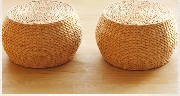 Papyrus Teapoy Table Stool Heightening Garden Thick Futon throw pillow Tatami Rattan Stool Casual Chair