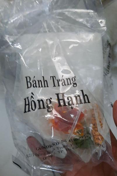 10 Bịch Bánh Tráng Hồng Hạnh Sate Muối Tắc