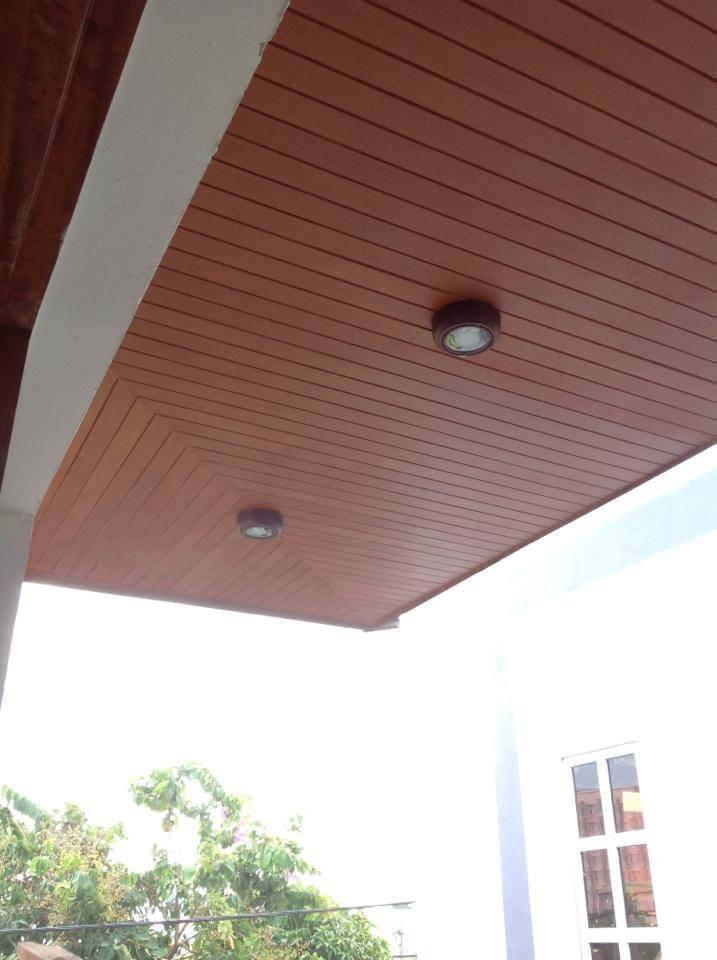 Trần gỗ nhựa ngoài trời