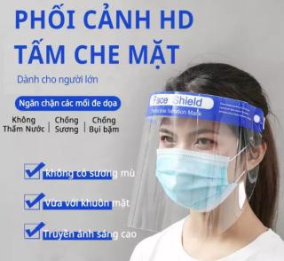 combo 20 Tấm Chắn Ngăn Giọt Bắn Face Shield Ngăn Ngừa Văng Bắn Phòng Chống Dịch Hiệu Quả Tối Ưu Tiêu Chuẩn CE FDA - Hàng Chính Hãng thumbnail