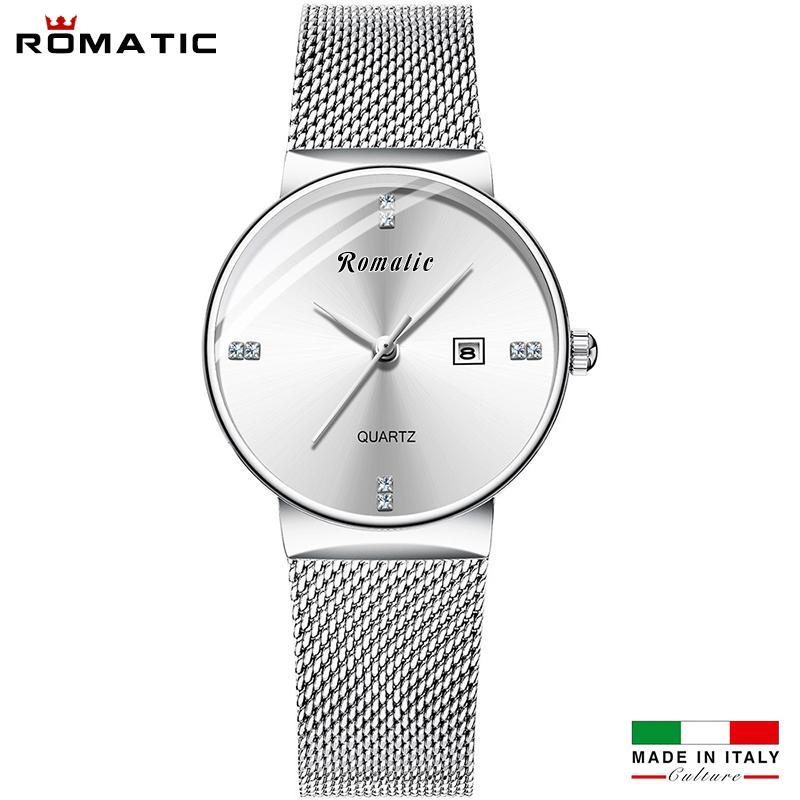 ĐỒNG HỒ NỮ ROMATIC ITALIA - DÂY TITANIUM SANG TRỌNG + TẶNG HỘP & PIN bán chạy