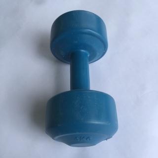1 cục tạ tập tay 4kg, tạ tay 4kg, tạ nhựa 4kg, tạ, 4kg 1 cục vỏ là nhựa, ruột là xi măng non, 1 đầu có nắp đậy. sử dụng cho tập tay, tập vai, tập ngực. thumbnail