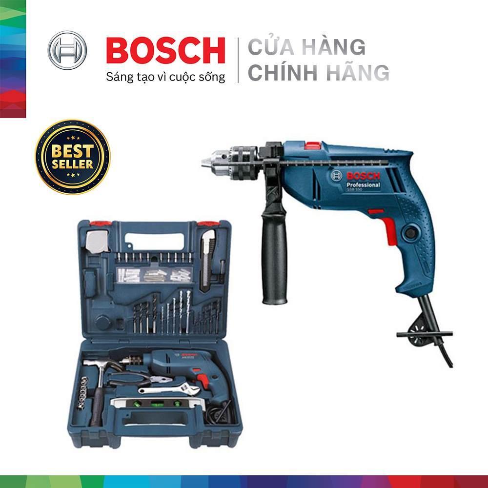 Bộ máy khoan động lực Bosch GSB 550 SET 100 chi tiết