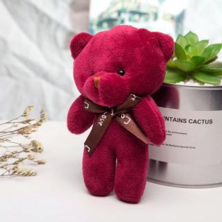 [SIÊU KUTE] Gấu bông nhỏ xinh cao 12cm gắn móc khoá, thú nhồi bông mini giá rẻ làm quà tặng đồ chơi cực kì dễ thương 1