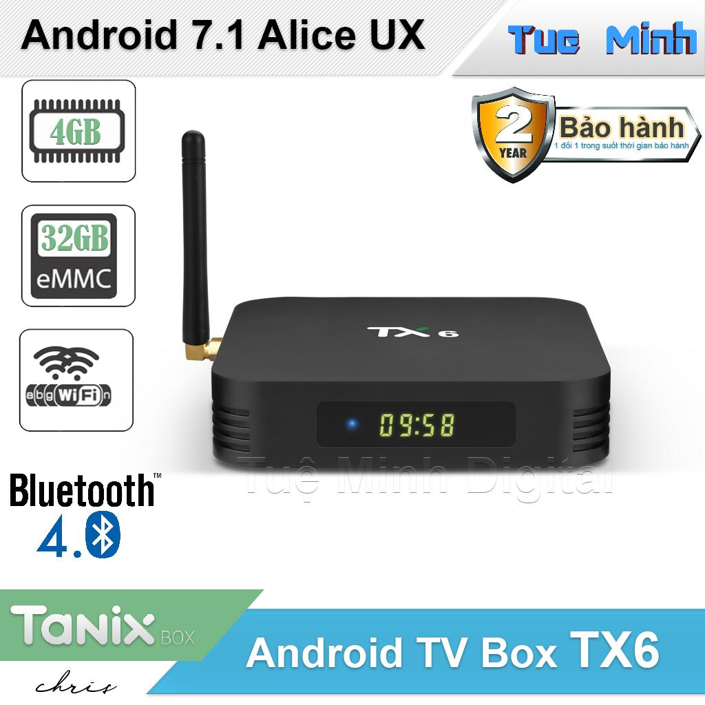 Android TV Box TX6 - Alice UX, Ram 4GB, Bộ nhớ trong 32GB - Dual Wifi