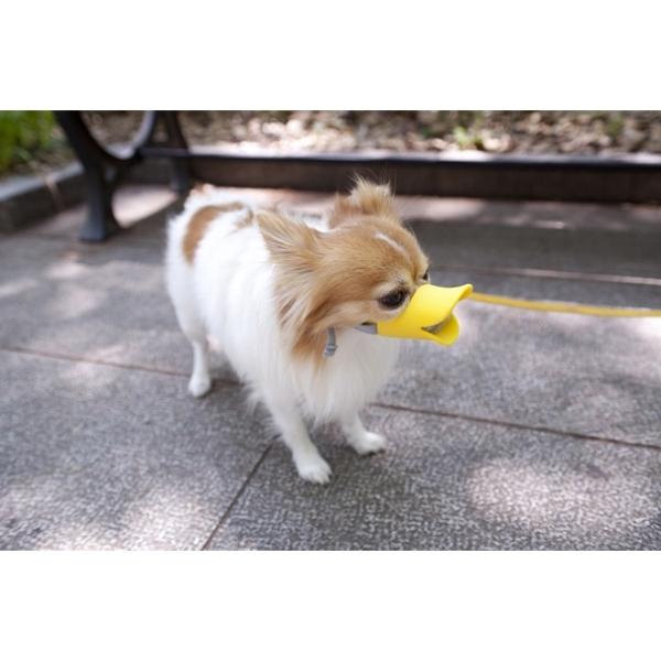 Rọ mõm chó hình mỏ vịt Amazon Hot - Silicone Duckbill Cover Pet Dog Mặt nạ Che Miệng chó Chống cắn-Vàng Trumpet