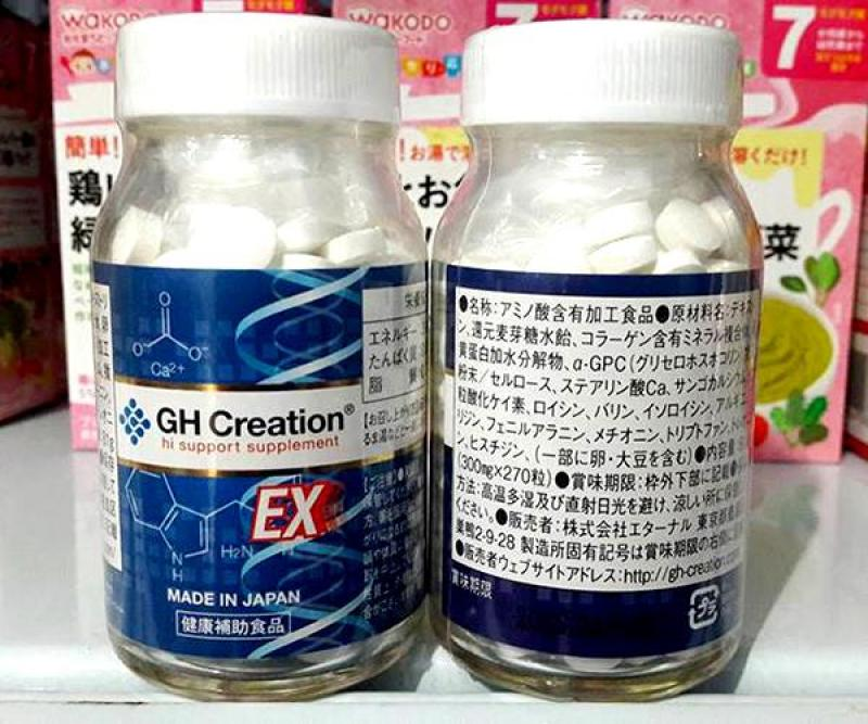 GH-Creation Ex - Viên Uống Hỗ Trợ Tăng Chiều Cao Nhật Bản, 270 viên giá rẻ