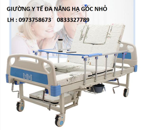 Giường y tế đa năng 4 tay quay HL2 - Giường bệnh đa chức năng - Giường y tế - Giường cao cấp