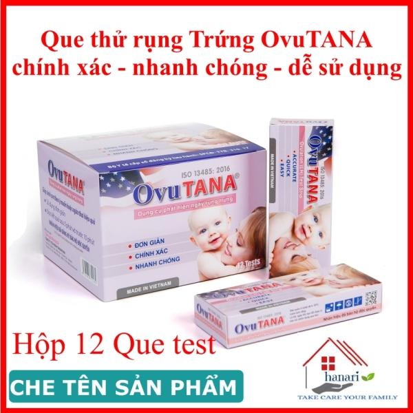 Que thử rụng trứng OVUTANA  - hộp 12 que, cho kết quả nhanh, an toàn dễ sử dụng cao cấp