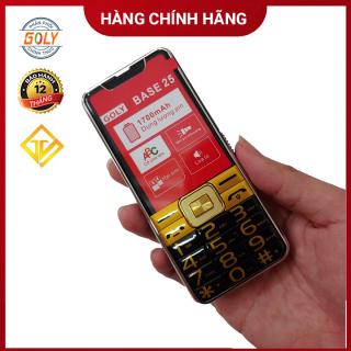 Điện thoại Goly Base 25 Phím số to Loa 3D siêu lớn Pin khủng - Hàng chính hãng thumbnail