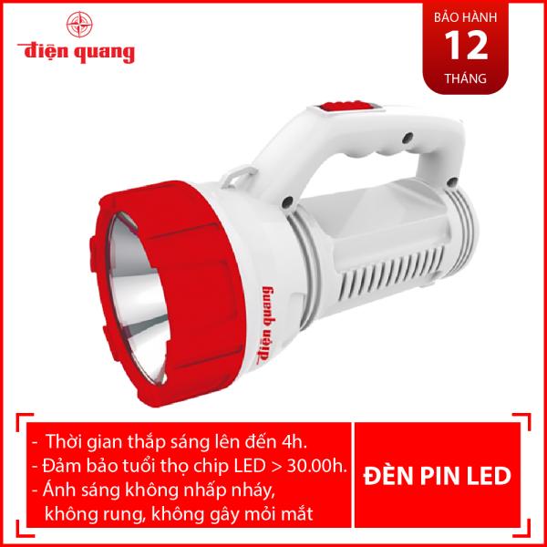 Đèn Pin LED Điện Quang ĐQ PFL08 R WR (Pin sạc, Trắng - Đỏ)