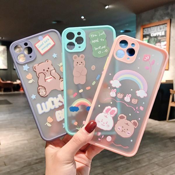 Ốp lưng iphone nhám Động vật lovely iPhone 7Plus / 8Plus ; X ; Xs Max ; 11 ; 11 Pro Max ; 12 Pro; 12 Pro Max