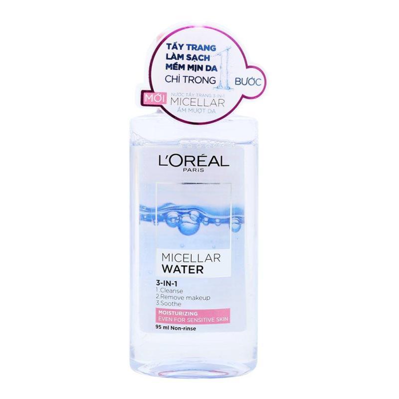 Nước tẩy trang dưỡng ẩm LOreal Paris Micellar Water 3In1 95ml