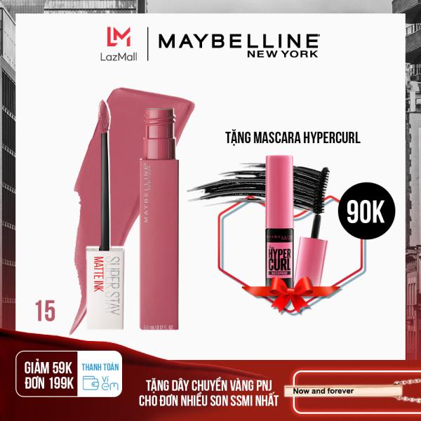 [Thanh toán ví eM giảm 39K đơn 169K] Son Kem Lì 16H Lâu Trôi Maybelline New York Super Stay Matte Ink City Edition Lipstick 5ml cao cấp