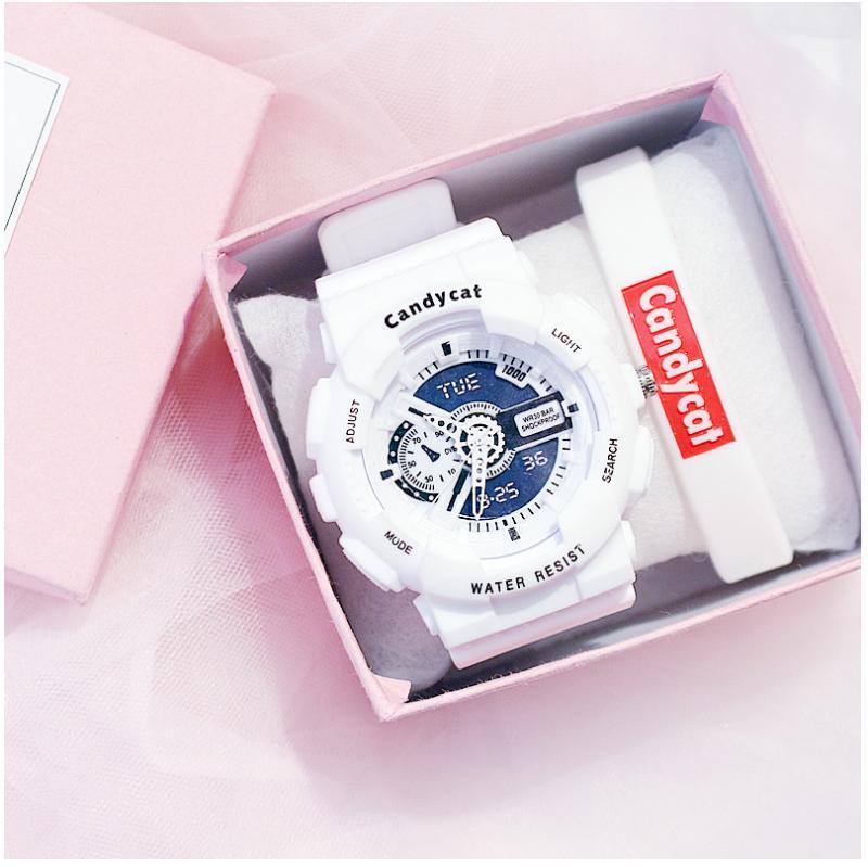 Nơi bán Đồng hồ thời trang nam nữ Candycat mẫu chạy kim - giả điện tử