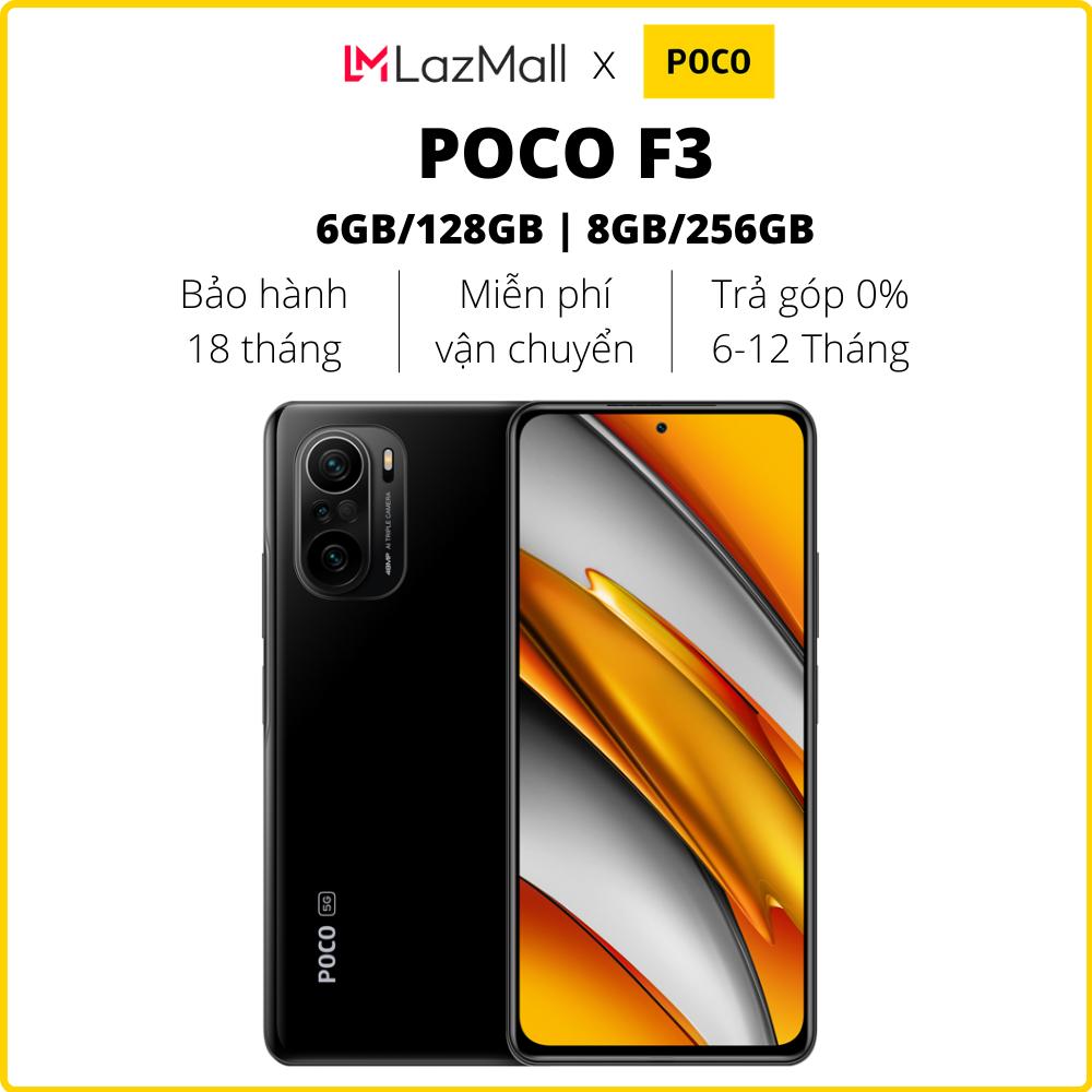 Điện thoại POCO F3 (6GB/128GB | 8GB/256GB) - Hàng chính hãng DGW - Bảo hành 18 tháng - Trả góp 0%